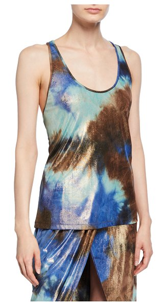 Le Superbe Take It Easy Racerback Tank in multi pattern