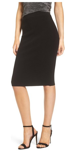 LEITH high waist body-con skirt - A dense ponte-knit fabric smoothly skims the body as a...