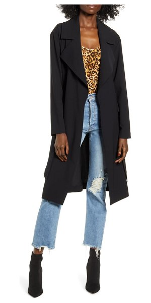 Leith relaxed soft trench coat in black