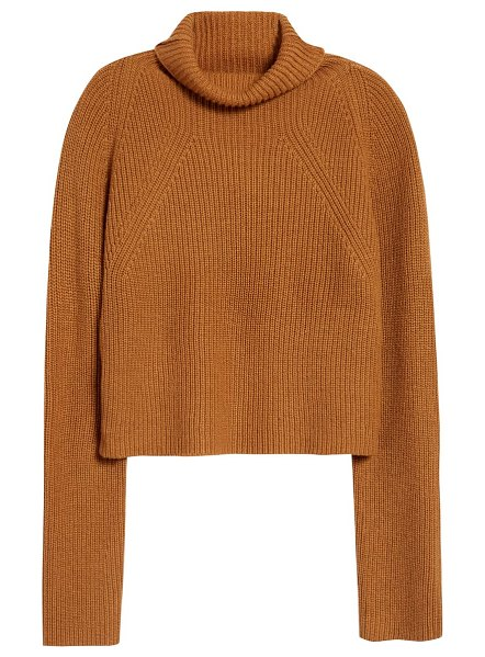 Leith transfer stitch turtleneck sweater in tan dale