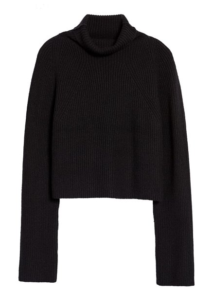 Leith transfer stitch turtleneck sweater in black