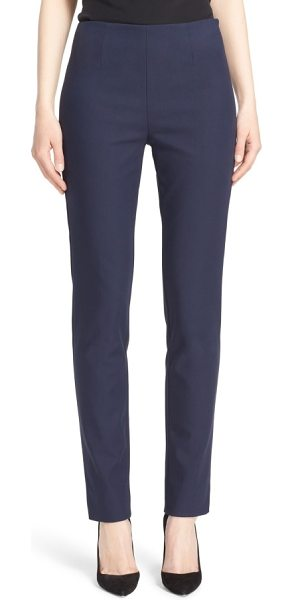 Lela Rose catherine stretch twill ankle pants in navy