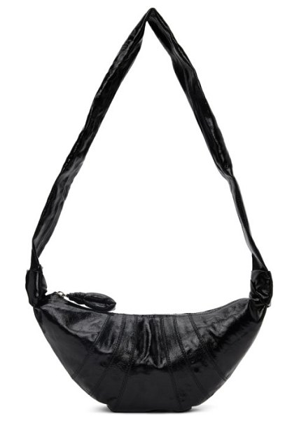 LEMAIRE black small croissant bag in 999 black