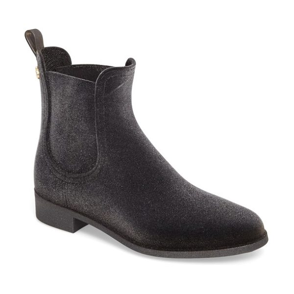 LEMON JELLY velvety waterproof chelsea bootie in silver - A lemony scent adds to the fresh feel of this waterproof...