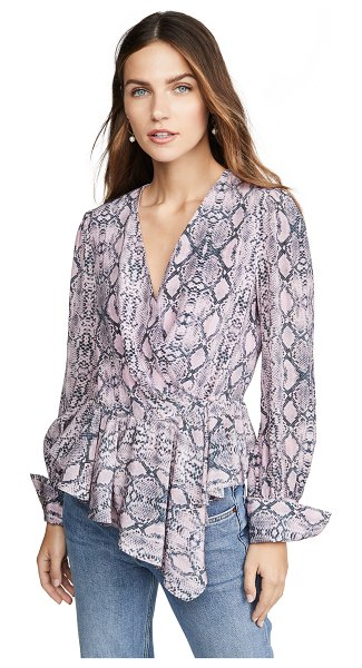 Les Reveries ruffle wrap top in python