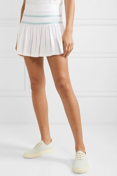 L'Etoile Sport pleated stretch-jersey tennis skirt in white