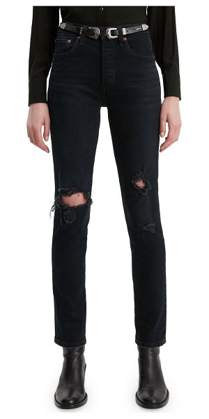 Levi's Premium 501 High-Rise Distressed Skinny Jeans in wild bunch