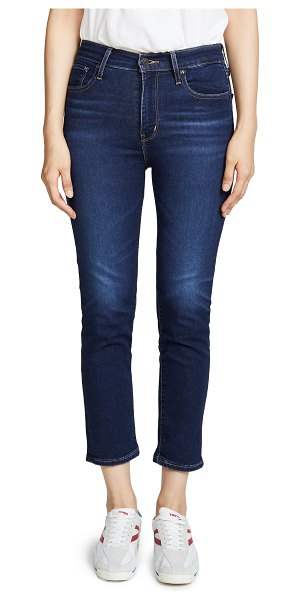 Levi's 724 high rise straight crop jeans in london indigo