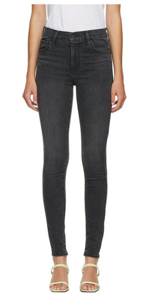 Levis black 720 high-rise super skinny jeans in smoked out