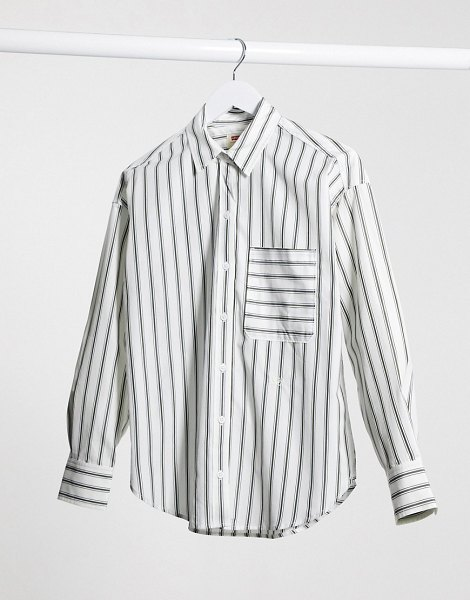 Levi's levi relaxed shirt in stripe-white in white