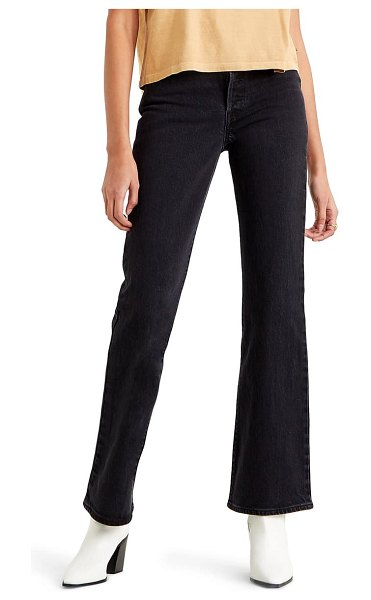 Levi's ribcage high waist bootcut jeans in black bayou