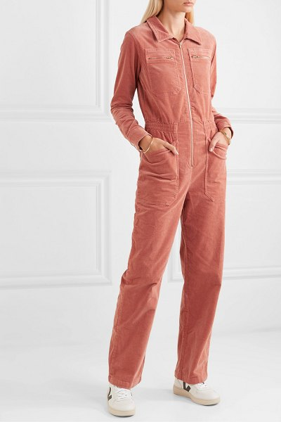 L.F.Markey danny cotton-blend corduroy jumpsuit in orange