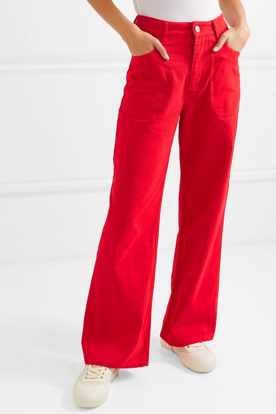 L.F.Markey didion cotton-drill wide-leg pants in red