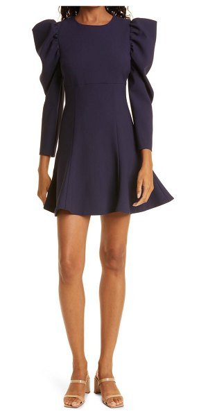 LIKELY alia long sleeve fit & flare cocktail dress in navy