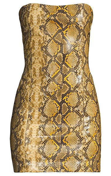 LIKELY hayley python-print bodycon dress in gold