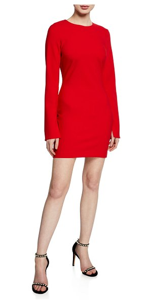 "LIKELY Manhattan Long-Sleeve Mini Dress in scarlet - Likely ""Manhattan"" cocktail dress. Approx. 32.5""L down..."