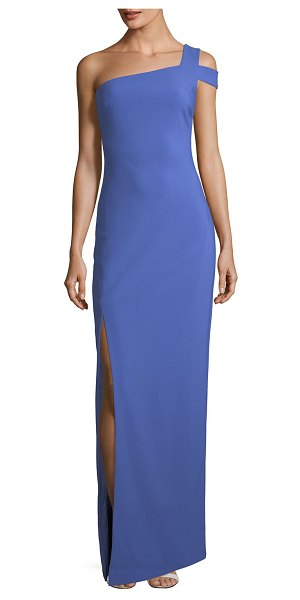 """LIKELY Maxson One-Shoulder Column Evening Gown in amparo blue - Likely """"Maxson"""" crepe evening gown. Approx. 52""""L down..."""