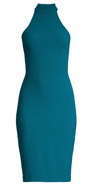 LIKELY presely halter bodycon dress in cerulean