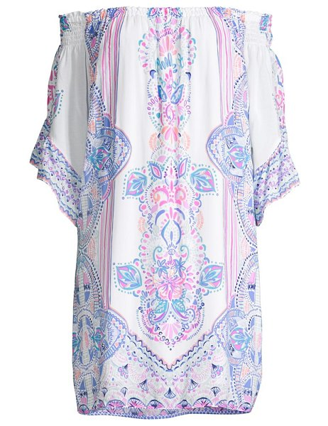 Lilly Pulitzer fawna off-the-shoulder dress in resort white