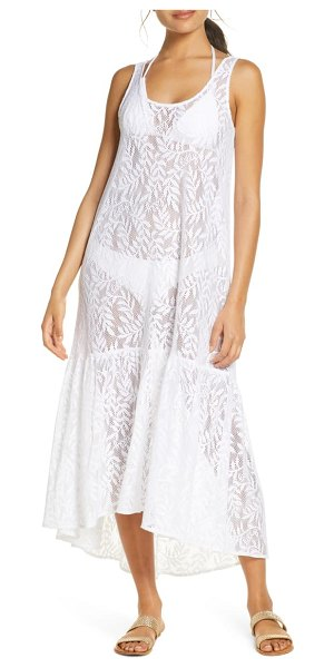 Lilly Pulitzer lilly pulitzer camellia cover-up lace maxi dress in resort white swirling leaf