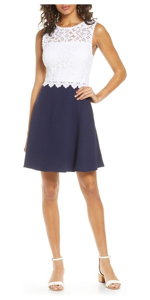 Lilly Pulitzer lilly pulitzer carolyn fit & flare dress in true navy
