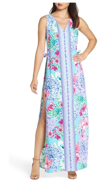 495eebe4ee33 Lilly Pulitzer Lilly Pulitzer Donna Maxi Romper in Blue