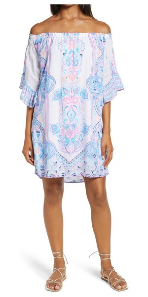 Lilly Pulitzer lilly pulitzer fawna off the shoulder dress in resort white chic retreat