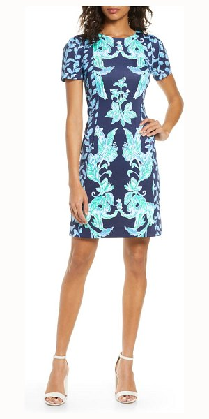 Lilly Pulitzer lilly pulitzer floral sheath dress in hi tide nvy swt parakeet