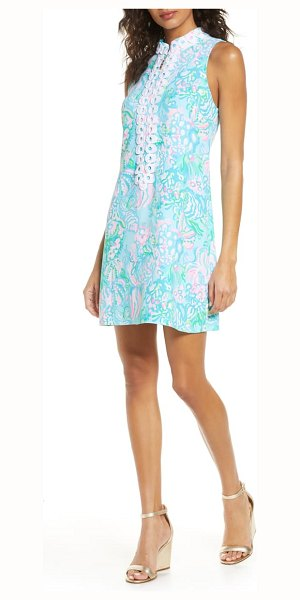 Lilly Pulitzer lilly pulitzer jane sleeveless shift dress in blue ibiza aqua la vista
