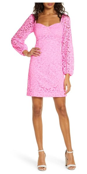 Lilly Pulitzer lilly pulitzer juliah long sleeve lace dress in prsecco pnk hey hey bqt lace