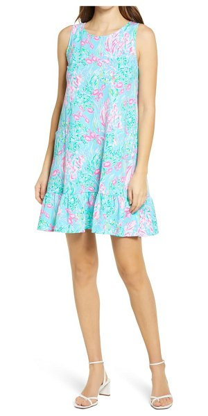 Lilly Pulitzer lilly pulitzer kristen flounce dress in amalfi blue best fishes