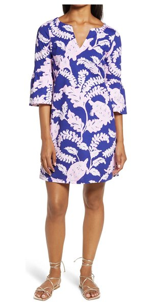 Lilly Pulitzer lilly pulitzer tosha cotton jersey shift dress in galaxy blue what the shell