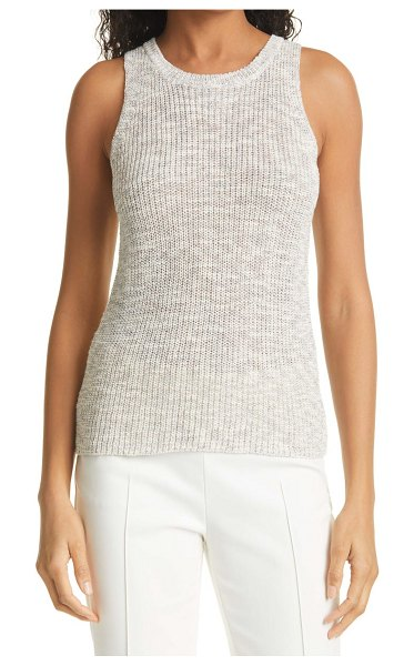 LINE sweater tank in oat milk