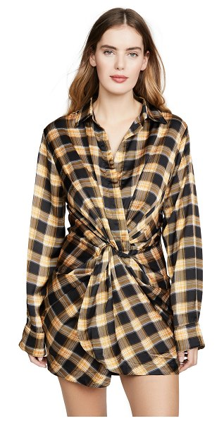 Lioness hey you shirtdress in yellow check