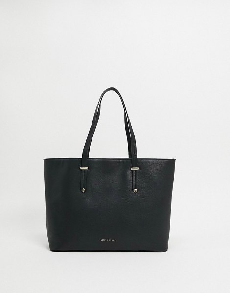Lipsy pu shopper in black in black