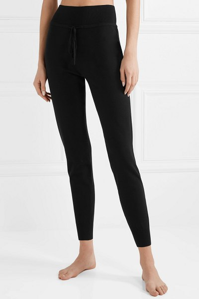LIVE THE PROCESS stretch-knit track pants in black - Live The Process' stretch-knit track pants are perfect...