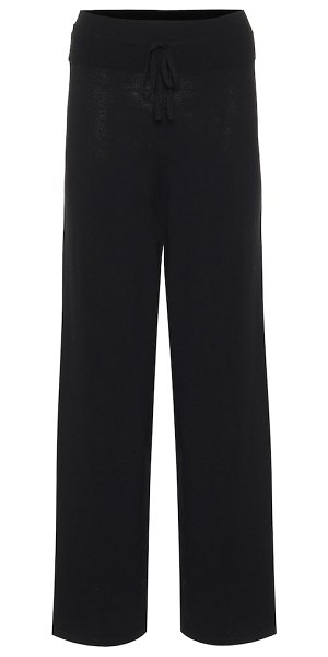 LIVE THE PROCESS wide-leg trackpants in black