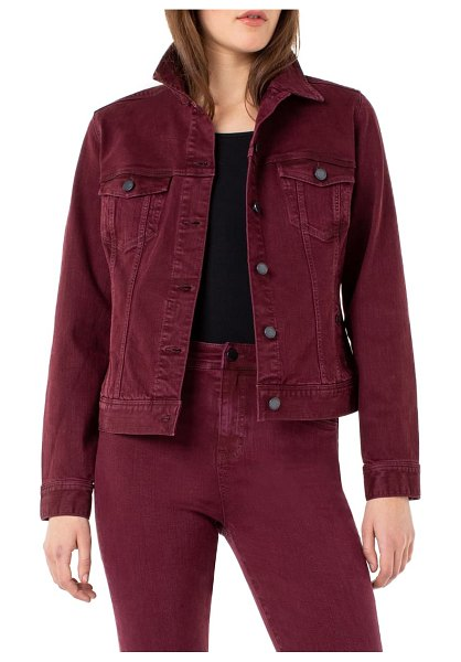 Liverpool denim jacket in oxblood