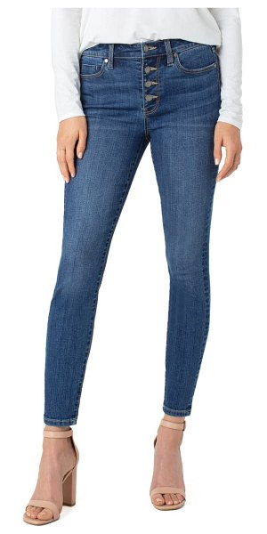 LIVERPOOL LOS ANGELES abby sustainable high waist ankle skinny jeans in barnes