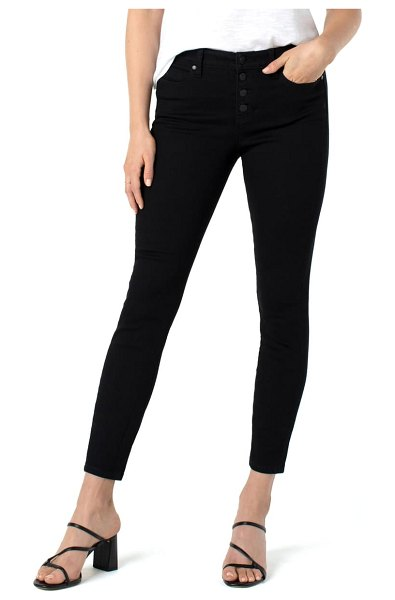 LIVERPOOL LOS ANGELES abby sustainable high waist ankle skinny jeans in black rinse