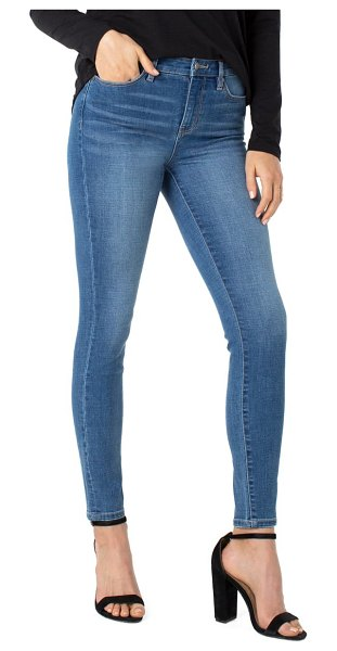LIVERPOOL LOS ANGELES abby sustainable high waist skinny jeans in flourish