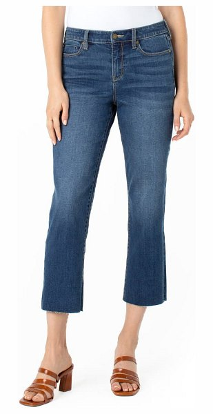 LIVERPOOL LOS ANGELES liverpool raw hem high waist sustainable crop jeans in tea tree