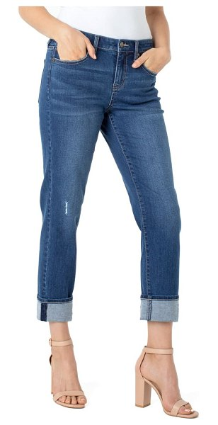 LIVERPOOL LOS ANGELES marley sustainable girlfriend jeans in day lily