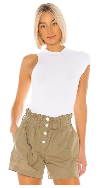 LNA tyler rib top in white