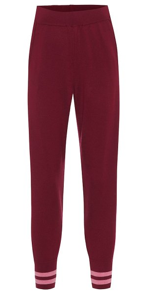LNDR arctic merino wool trackpants in red