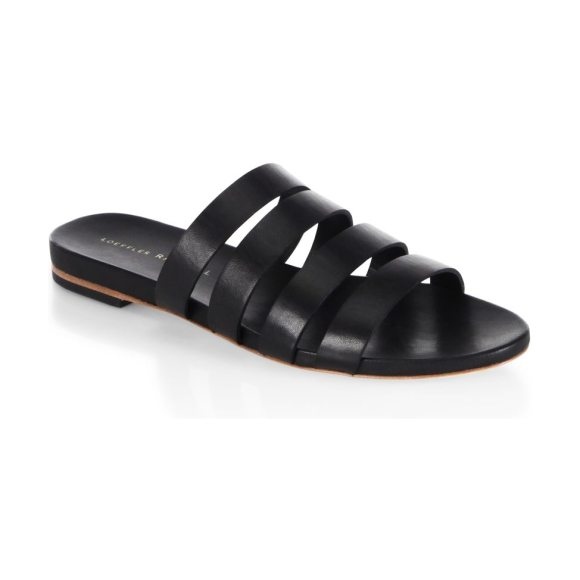 LOEFFLER RANDALL caspar leather slides - Practical sandals rendered with four-strapped design....