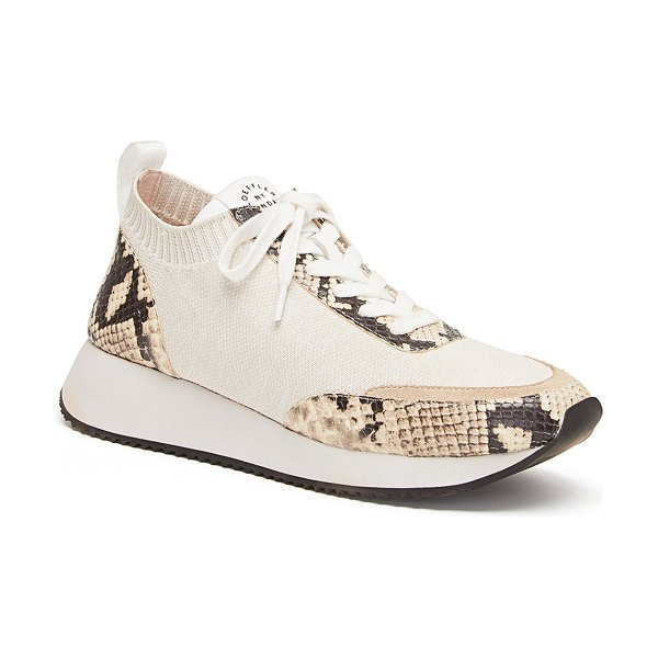 Loeffler Randall Remi Lace-Up Sneakers in snake