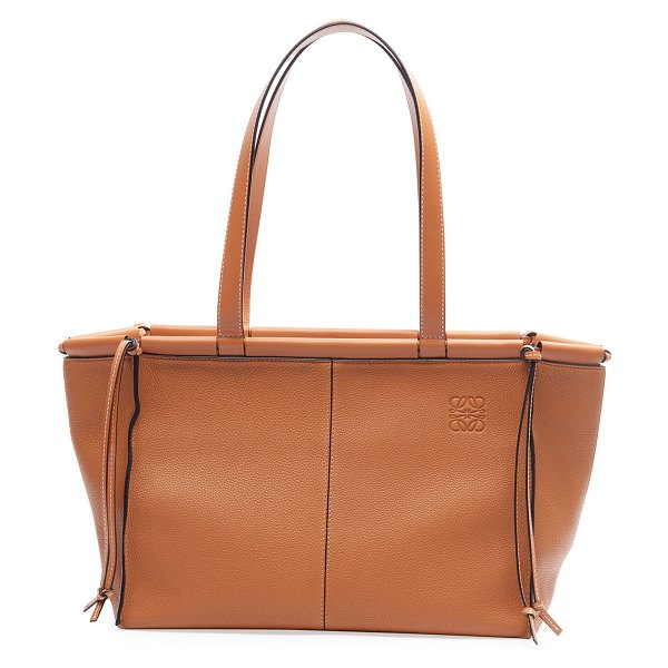 Loewe Cushion Small Tote Bag in tan