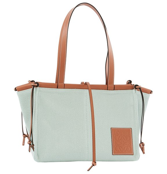 Loewe Cushion Tote small in aqua