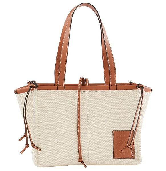 Loewe Cushion Tote small in light oat